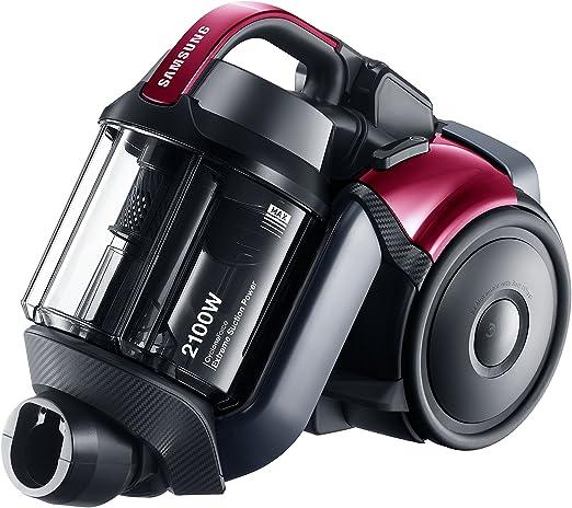 Samsung VC21F50VNAP aspirador - Aspiradora (2100W, 450W, Electrónico, Cilindro, Sin bolsa, Acero inoxidable) Rosa: Amazon.es: Hogar