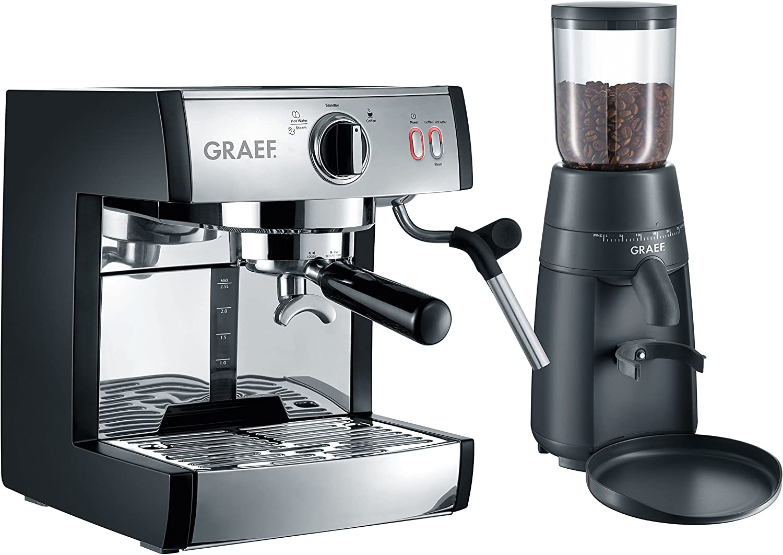 Graef pivalla SET Independiente Máquina espresso 2.5L Negro - Cafetera (Independiente, Máquina espresso, 2,5 L, De café molido, 1410 W, Negro): Amazon.es: Hogar
