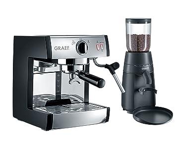 Graef pivalla SET Independiente Máquina espresso 2.5L Negro - Cafetera (Independiente, Máquina espresso, 2,5 L, De café molido, 1410 W, Negro): Amazon.es: ...