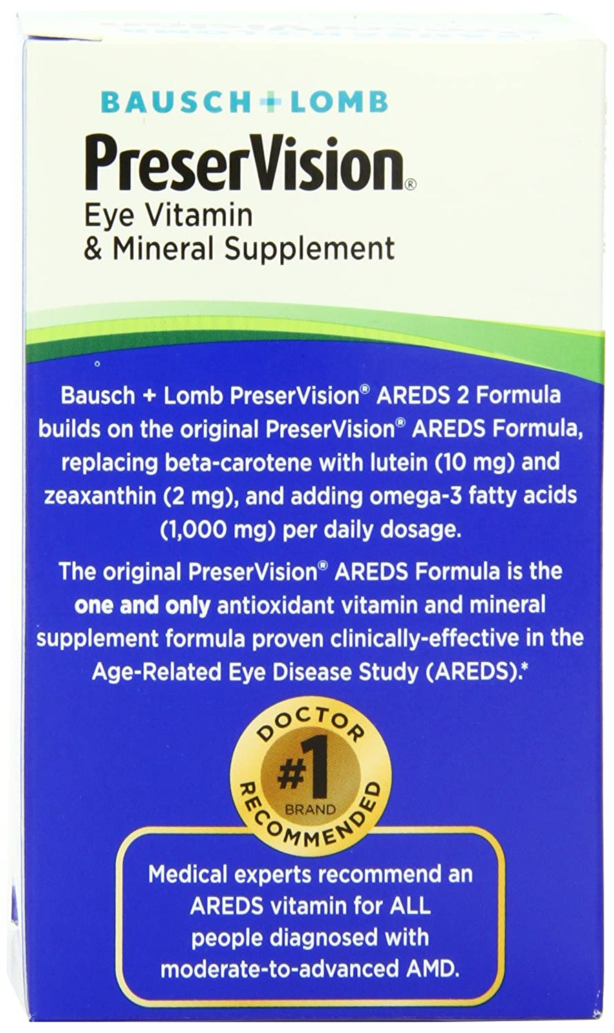 What are the side effects of PreserVision AREDS?
