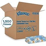 Kleenex Facial Tissue (03076), Flat Tissue Boxes, 12 Boxes/Convenience Case, 125 Tissues/Box