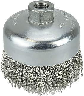 3 Diameter Carbon Steel Bristles Crimped Wire Cup Brush 0.014 Wire Size Weiler 36032 Vortec Pro 1//2-13 Arbor