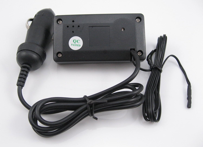 3 in 1 Digital blue LED Car Auto dashboard Clock//Voltage//Thermometer Internal//external for 12V//24V Car Voltmeter Panel-Meter