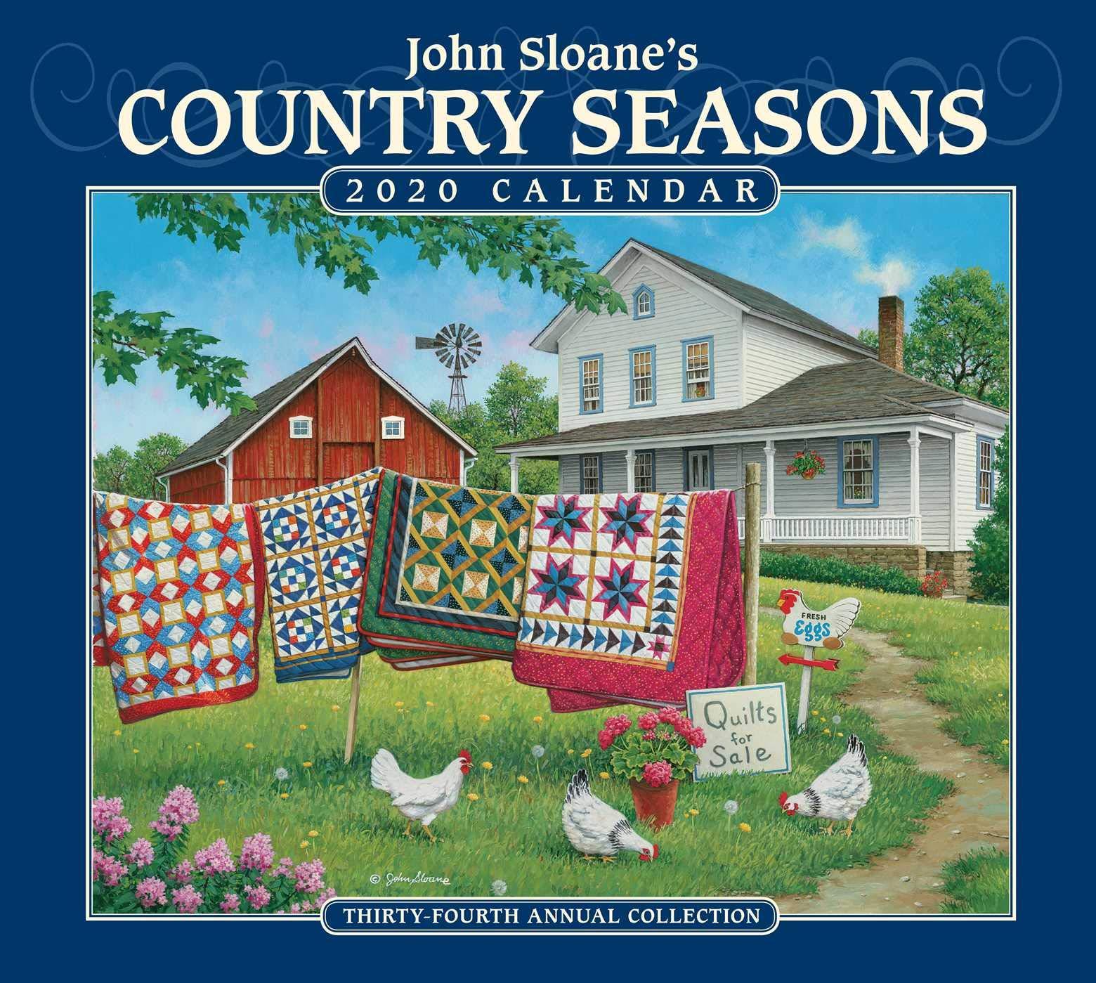 Calendrier World Tour 2020.John Sloane S Country Seasons 2020 Deluxe Wall Calendar