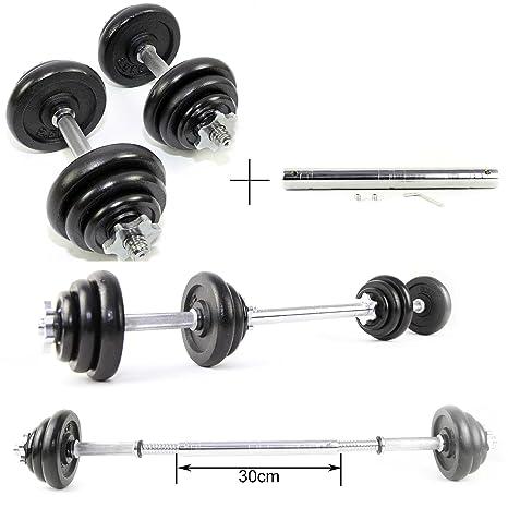 Set de mancuernas de levantamiento de hierro fundido 20 kg con ...
