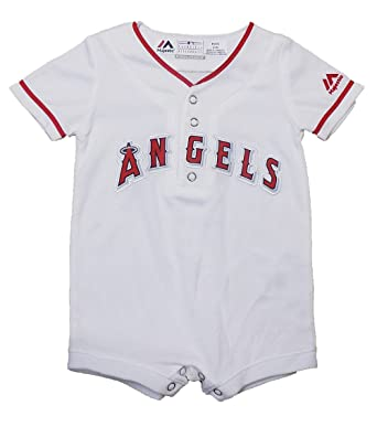 5d19b5618f2 Outerstuff Los Angeles Angels White Cool Base Infants Home Replica Romper  Jersey (12 Months)