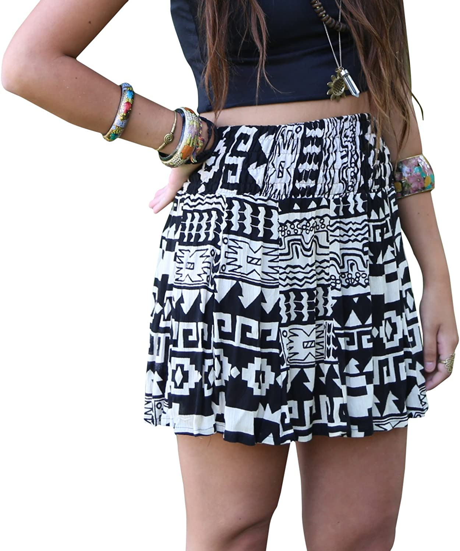 Aztec Tribal Skirt Wrap Style Earthy