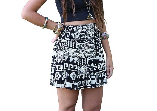 54e915c5c7 Aztec Tribal Geometric Skirt - Midi Skirt, High Waist Skirt Geometric  Patterns Boho Style