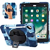 iPad 2017/2018 iPad 9.7 inch Case Shockproof Impact Resistant Protective Case Cover Full Body Rugged for Kids with Kickstand