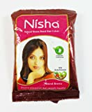 Nisha Natural Henna Based Hair Color 10pic NATURAL BROWN COLOUR