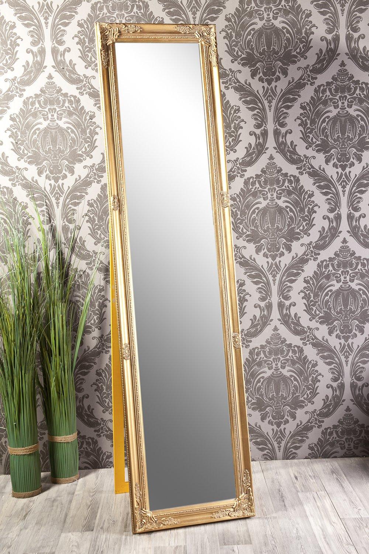 B.U.S Wohnstyle Standspiegel Spiegel antik Gold Abigail 160 x 40 cm