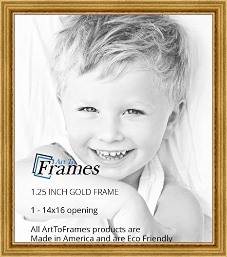 Amazon.com - ArtToFrames 14x16 inch Gold Foil on Pine Wood Picture ...