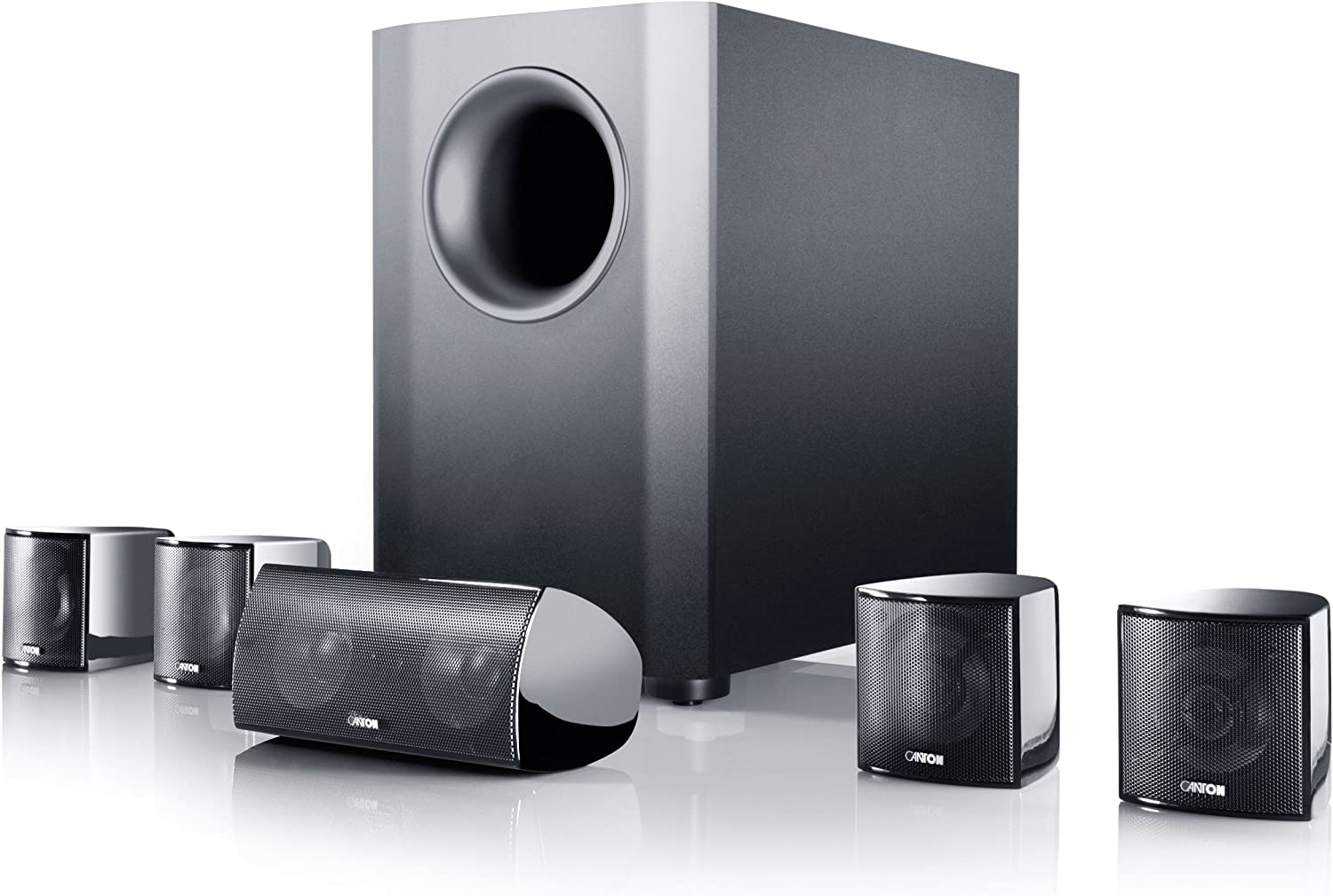 Amazon Com Canton Movie 90 5 1 Home Theater Speaker System Black High Gloss 6 Home Audio Theater