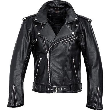 e81bde662c Delroy Veste Moto Highway Veste Moto Cuir Noir XXL, Hommes,  Chopper/Cruiser, été: Amazon.fr: Vêtements et accessoires
