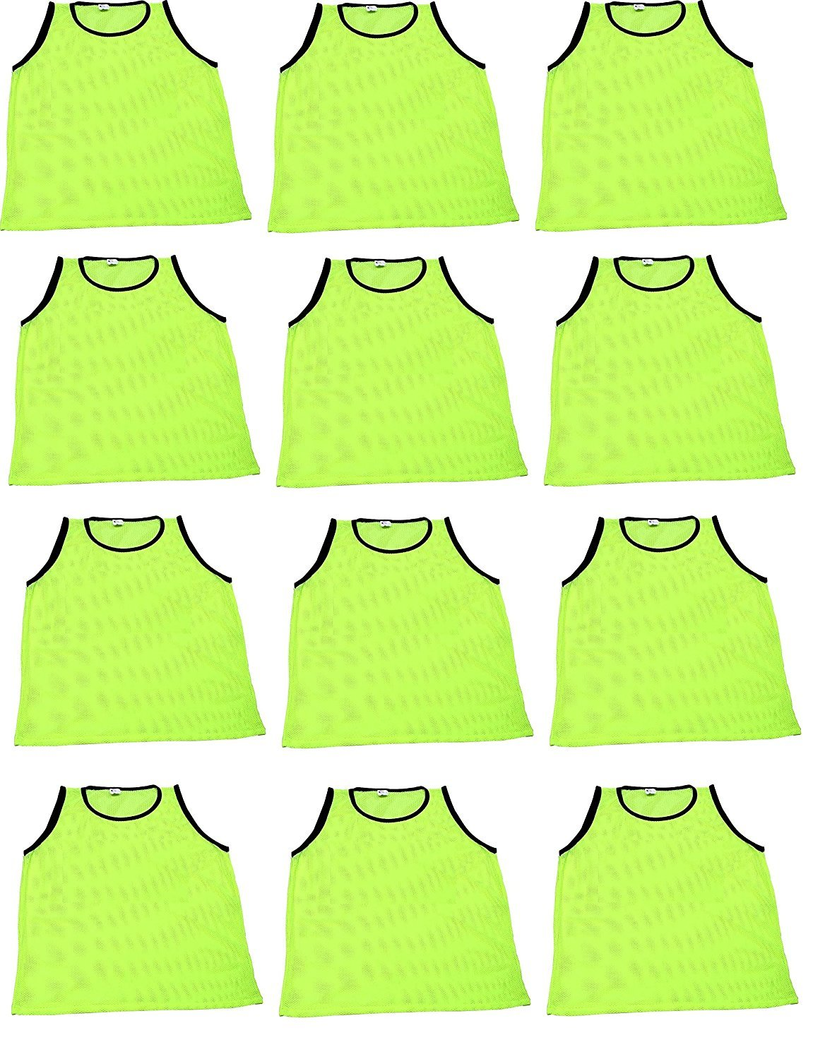 World Sport 12 Pack Youth YELLOW Scrimmage Vests with Carry Bag by by World Sport (Image #1)