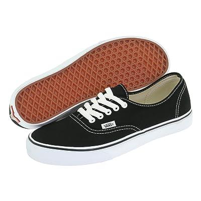 Vans Classic Authentic Black Canvas Skate Shoes Black 5 D(M) US   Skateboarding
