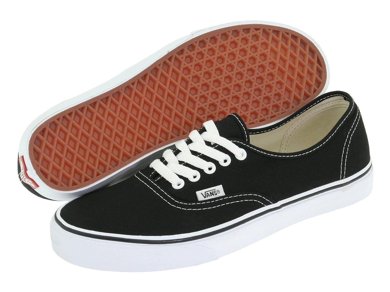 Vans Mens Authenic Lace Up Low Rise Casual Skate Shoes Plimsoll Sneakers B0771156BY 8.5 D(M) US|Black./White