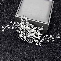 VEILTRON Brud kam kvinnor pärla smycken hårprydnader brud bröllop eleganta huvudbonader