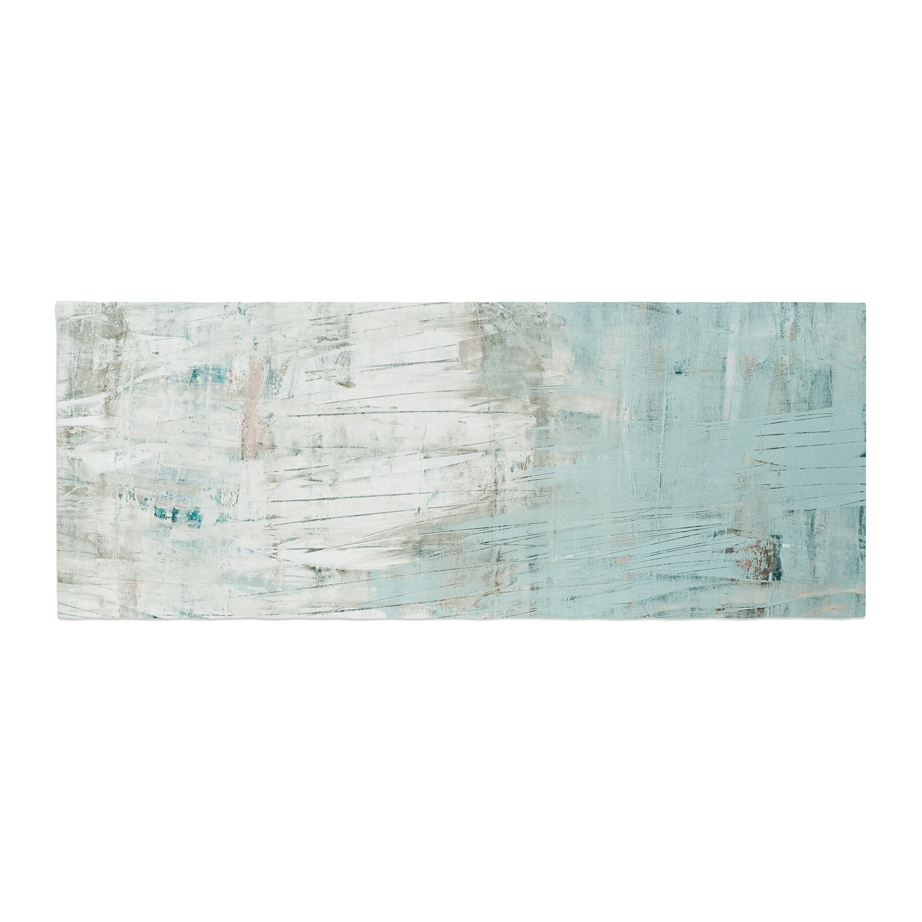 Kess InHouse Iris Lehnhardt Bluish Green Neutral Blue Bed Runner, 34'' x 86''