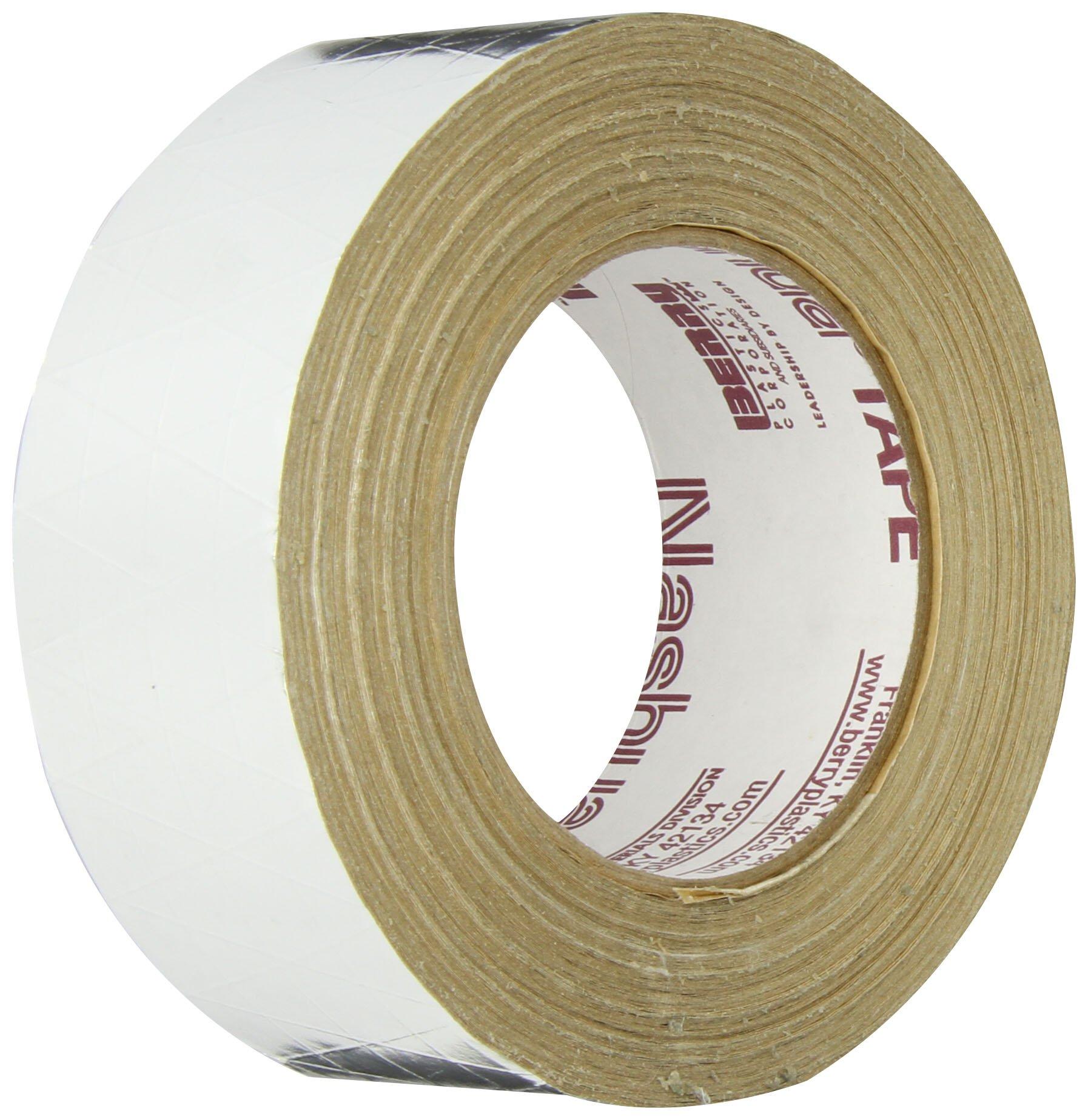 Nashua FSK Foil-Scrim-Kraft Insulation Jacketing Tape, 46m Length x 48mm Width, Aluminum