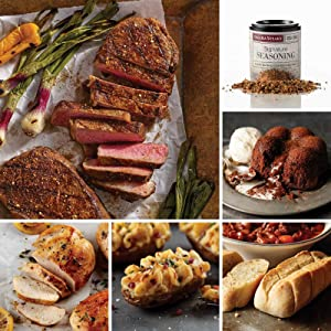 The Manhattan Collection from Omaha Steaks (Boneless New York Strips, Boneless Chicken Breasts, Stuffed Baked Potatoes, Mini Baguettes with Garlic Butter, Chocolate Molten Lava Cakes, and more)