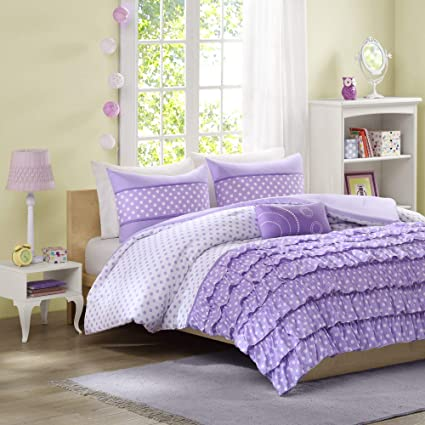 Amazon.com: Mi-Zone Morgan Comforter Set Full/Queen Size - Purple ...