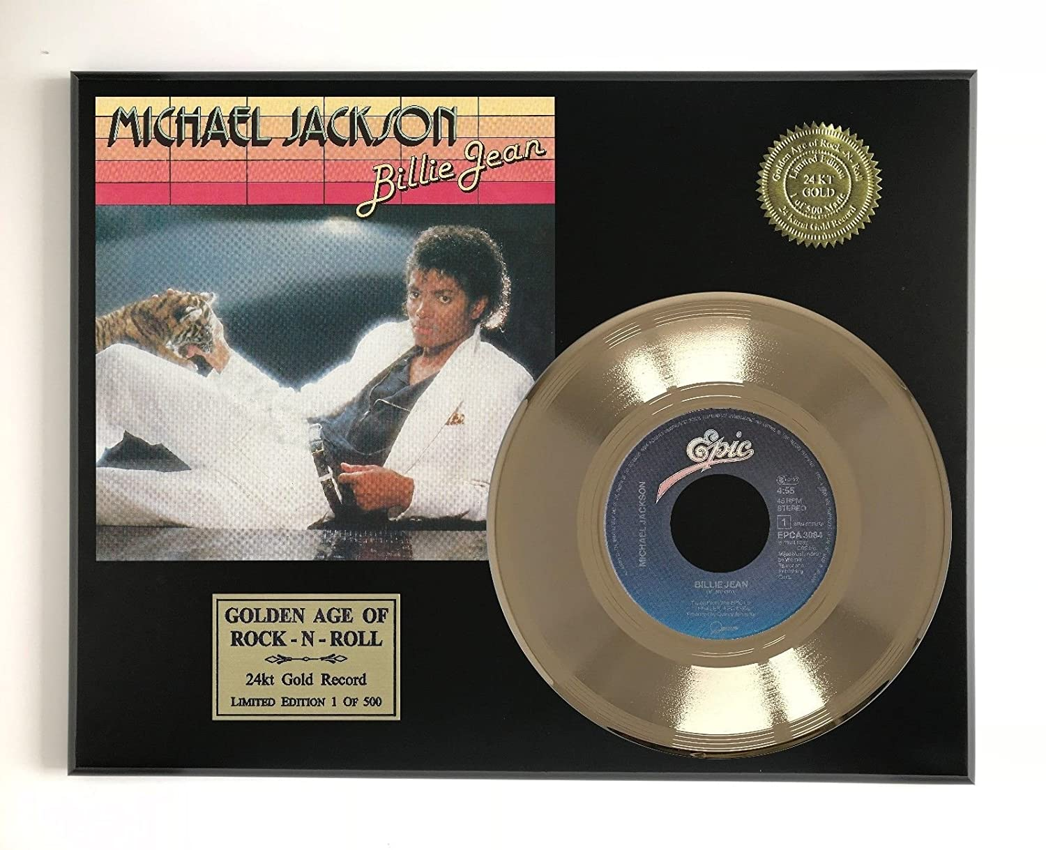 Michael Jackson - Billie Jean Ltd Edition Gold 45 Record Display M4