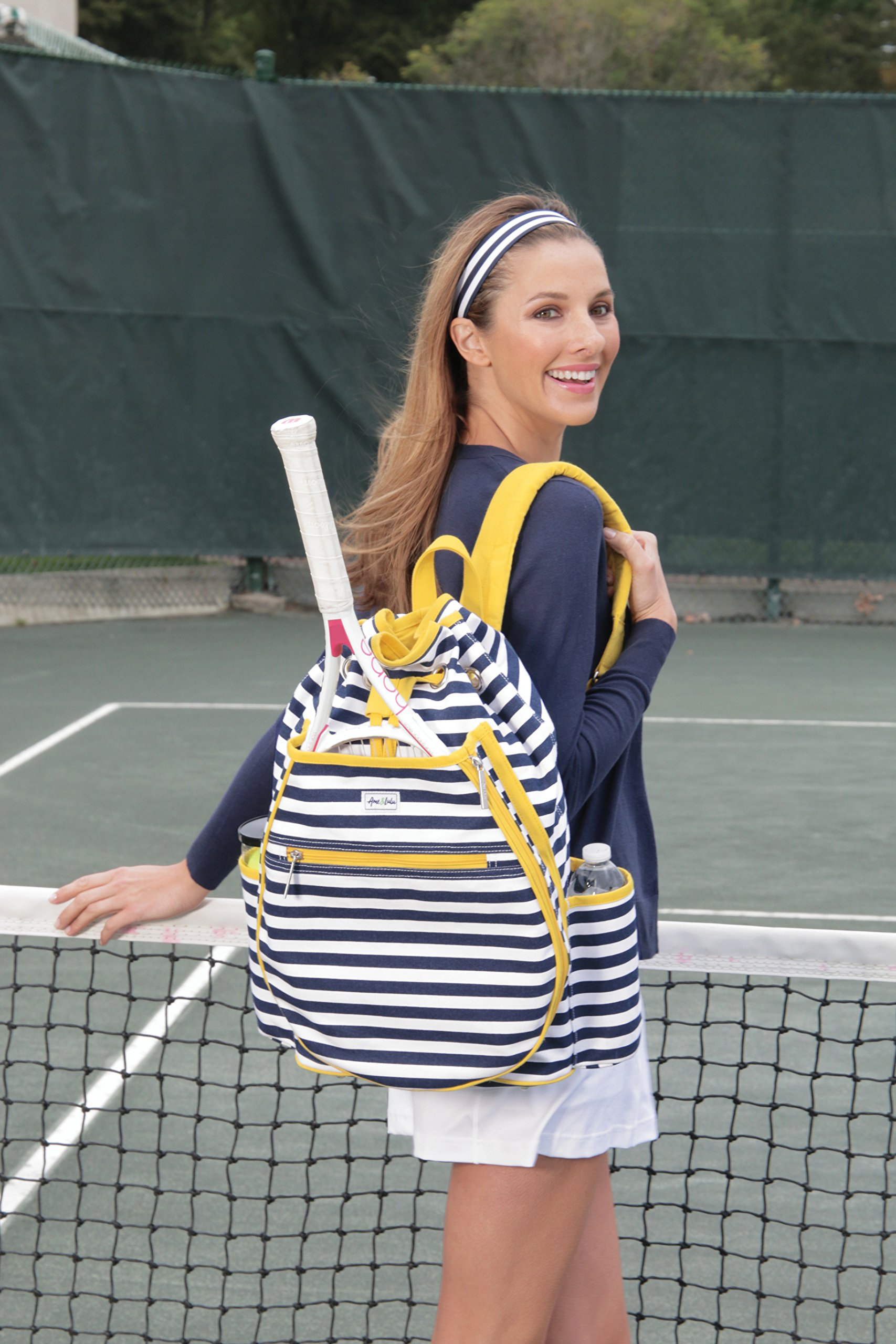 Ame and Lulu Tilly Stripe Tennis Backpack