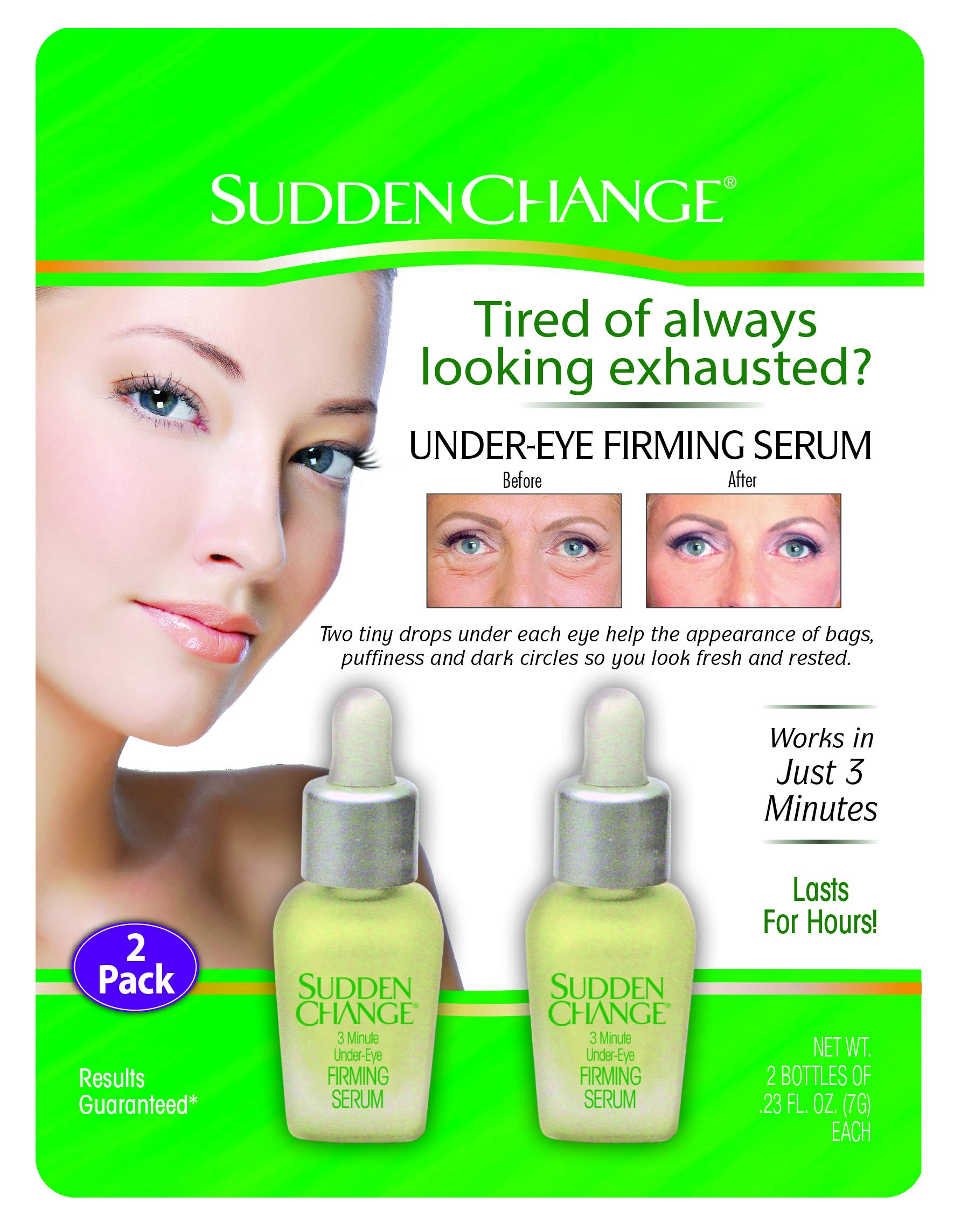 Sudden Change Under-Eye Firm Serum 0.23oz (2 Pack) by Sudden Change