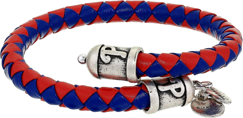 Alex and Ani MLB Philadelphia Phillies Braided Leather Wrap Bracelet