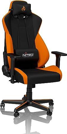 Bureau Gaming de S300 de 135 Concepts à ° Réglable ° en Hauteur Chaise kg Chaise Inclinable 135 NoirOrange Accoudoirs Nitro 3D de 90 PXuZik