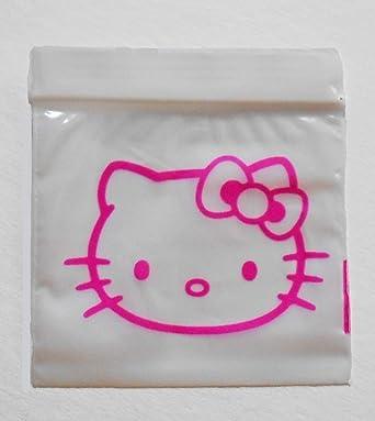 Amazon.com: 100 bolsas de plástico Ziplock 2 x 2 rosa Hello ...