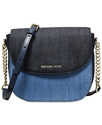 1680a6d8cf6 Image Unavailable. Image not available for. Color: Michael Kors Denim Half  Dome Crossbody