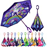 MRTLLOA Kids Umbrella, Reverse Kids Umbrella Girls, Inverted Kids Umbrella Boys, Upside Down Umbrellas for Kids Boys & Girls,