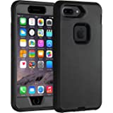 """Case for iPhone 7 Plus/ 8 Plus Heavy Duty Co-Goldguard Armor 3 in 1 Built-in Screen Protector Rugged Cover Dust-Proof Shockproof Drop-Proof Shell Compatible with iPhone 7+/8+ 5.5"""",Black"""