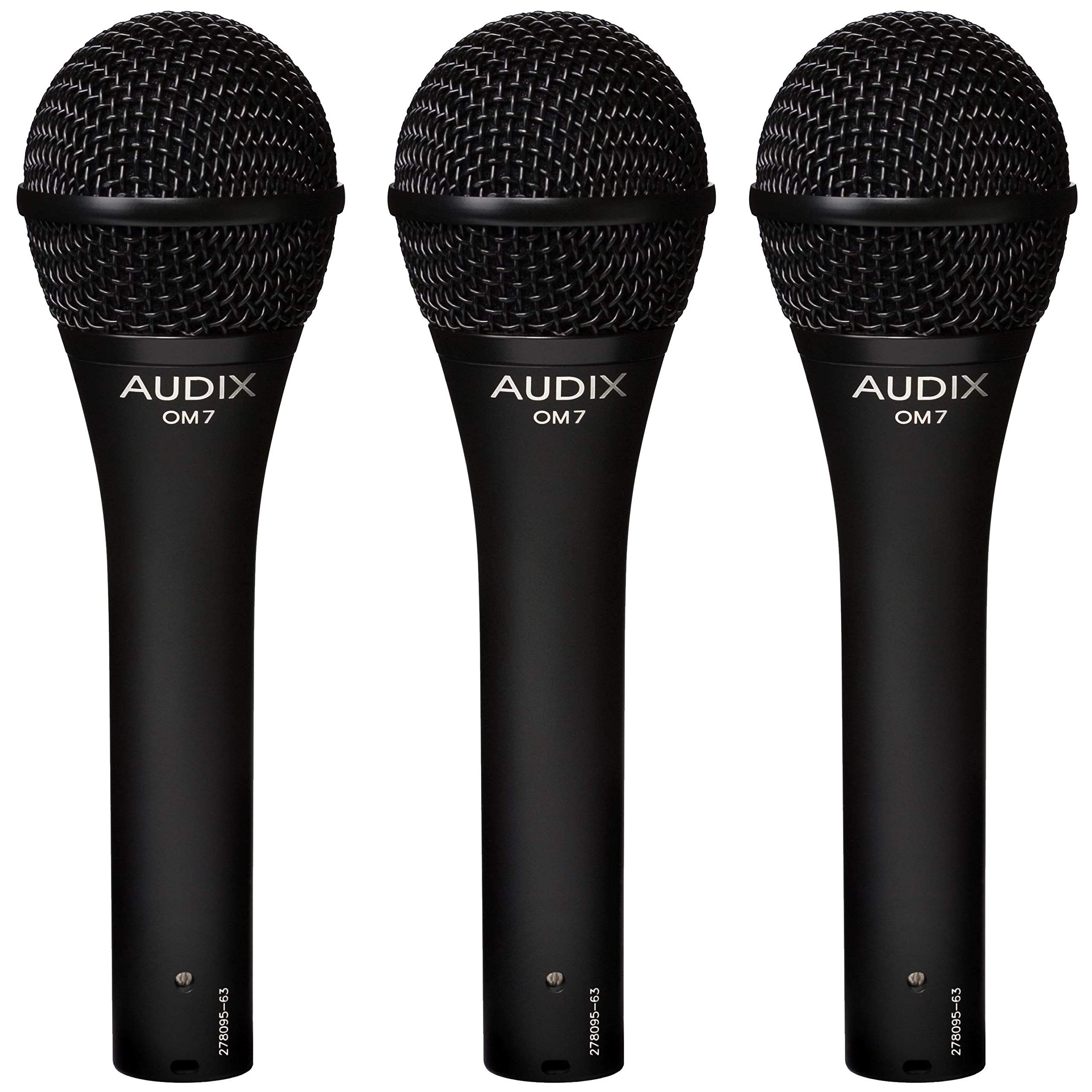 Audix OM7 Trio Dynamic Vocal Microphones by AUDIX