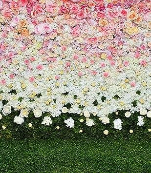 Amazon generic spring pink floral white flowers green grass generic spring pink floral white flowers green grass wedding photo backdrop studio photography background mightylinksfo