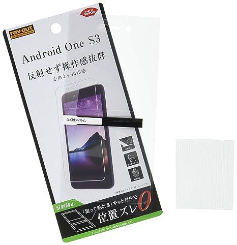 e79c2605d0 Amazon | レイ・アウト Android One S3 フィルム 指紋 反射防止 RT-ANS3F/B1 | 液晶保護フィルム 通販