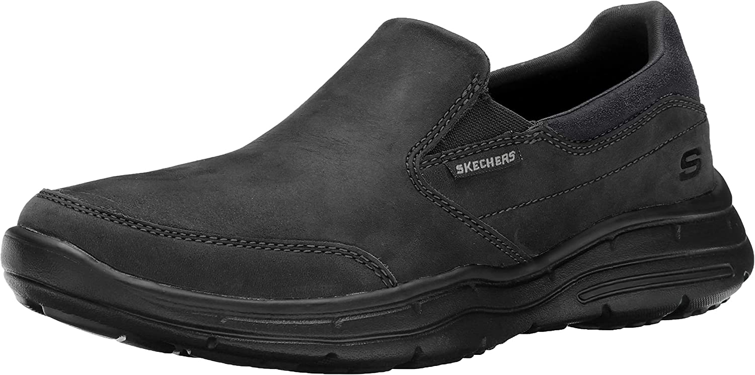skechers relaxed fit glides calculous slip on (men's)