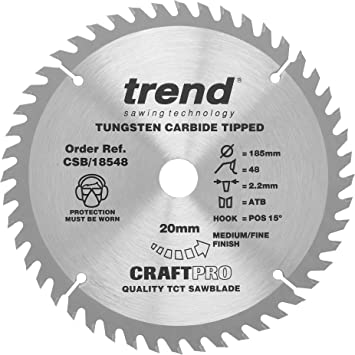 2 x TCT Circular Wood Saw Blades 184mm x 24 /& 40 Teeth Blade Disc Coarse//Medium