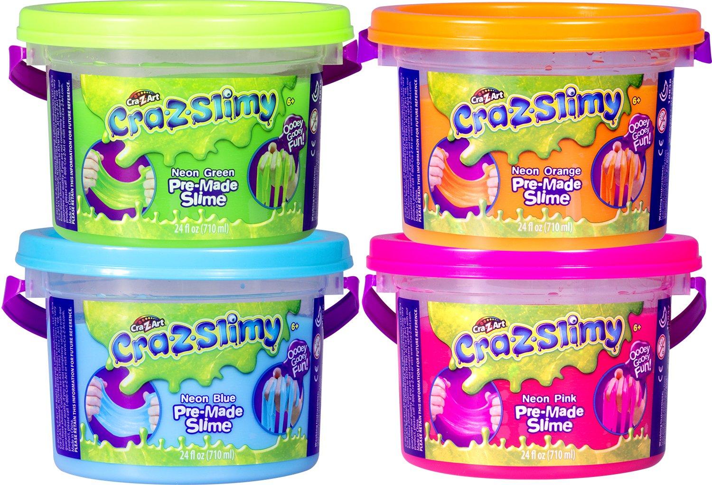 Cra-Z-Art CRA-Z-Slimy Premade Tub 1-24 oz Premade Slime Tub, Colors May Vary (Multi)