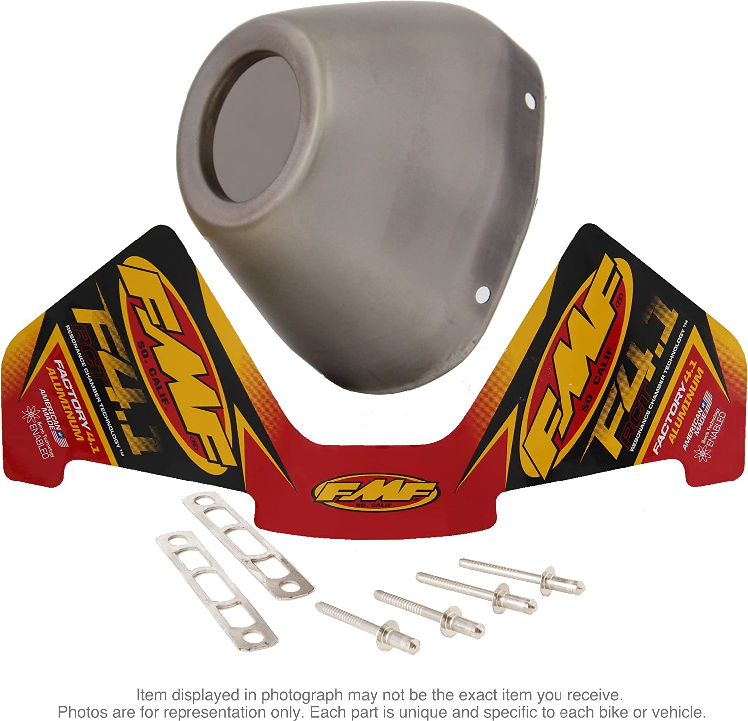 FMF Racing End Cap Kit for Factory 4.1RCT Stainless Steel 040641