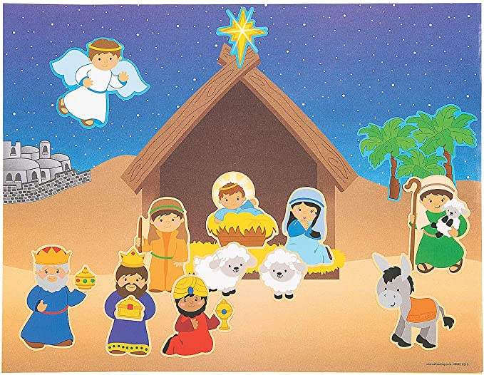 Fun Express Reindeer Sparkle Sticker Scene 12 Pieces Stationery