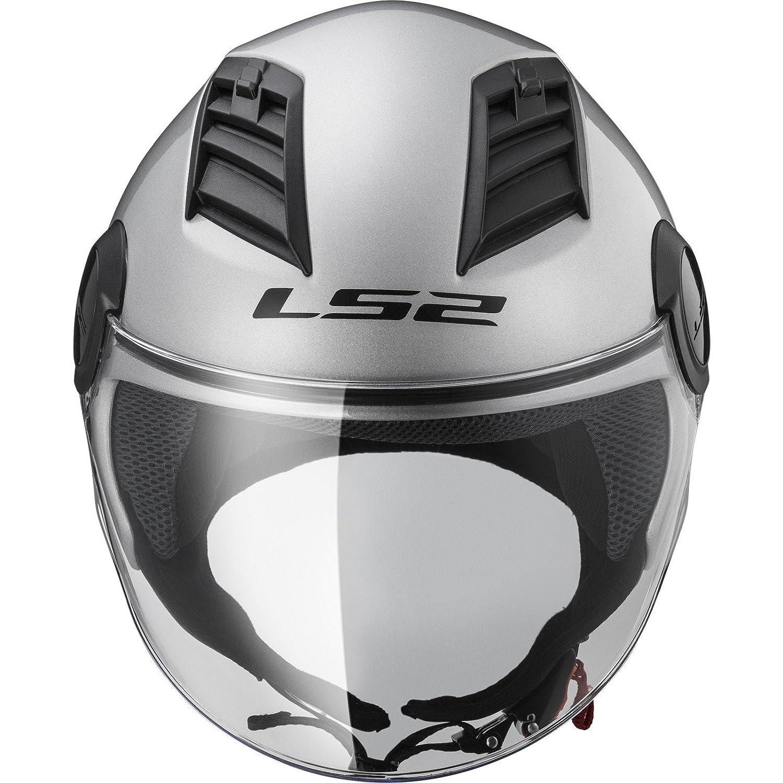 LS2 casque jet Airflow silver Taille XXL