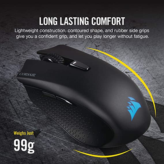 2da9a1ef0a2 Amazon.com: CORSAIR Harpoon RGB Wireless - Wireless Rechargeable Gaming  Mouse - 10,000 DPI Optical Sensor: Computers & Accessories