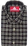 STC Men's Black Woolen Checkered Cottswool Winter Wear Full Sleeves Regular Fit Formal Shirt 0121