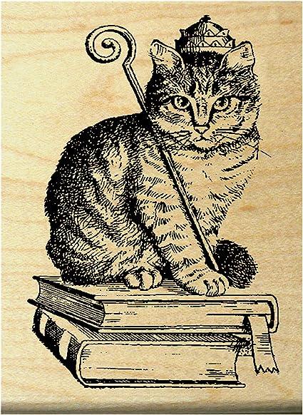 Royal Cat Rubber Stamp WM P34