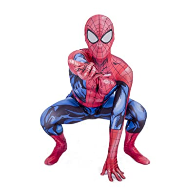 Big Party Costumes Niños Súper Hero Araña Disfraz (3-4 Años): Juguetes y juegos