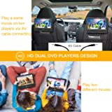 """WONNIE 10.5"""" Dual Screen DVD Player Portable CD"""