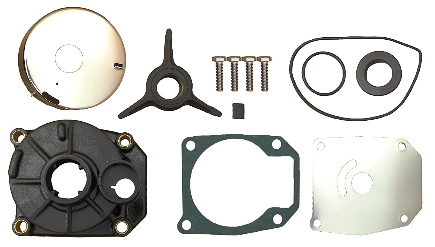 Water Pump Impeller Repair Kit for Johnson Evinrude Outboards Replaces 433548